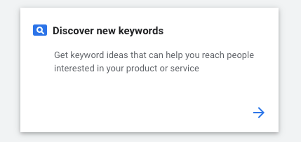 discover new keywords
